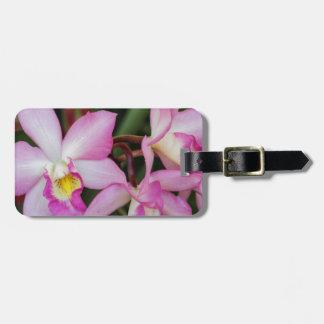 orquídea etiqueta para equipaje