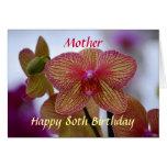 Orquídea feliz del Phalaenopsis del cumpleaños de  Tarjetas