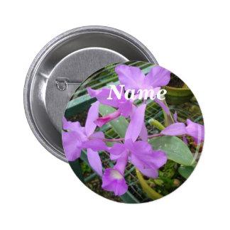 Orquídea -- Flor nacional de Costa Rica, etiqueta  Pin Redondo De 2 Pulgadas