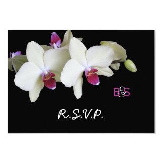 Orquídea floral RSVP que casa la invitación y el