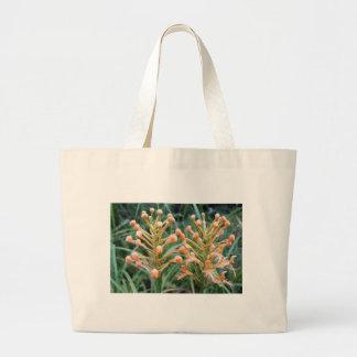 Orquídea franjada amarillo bolsa tela grande