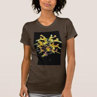 Orquídea franjada amarillo camiseta