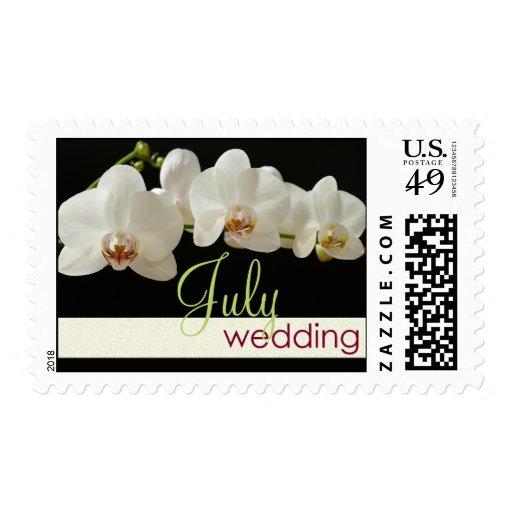 Orquídea - franqueo del boda de julio timbres postales