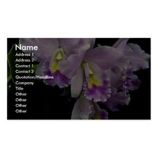 Orquídea hermosa, cattleya (labiata del ariel x) plantillas de tarjetas de visita
