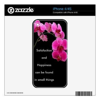 Orquídea inspirada calcomanías para el iPhone 4