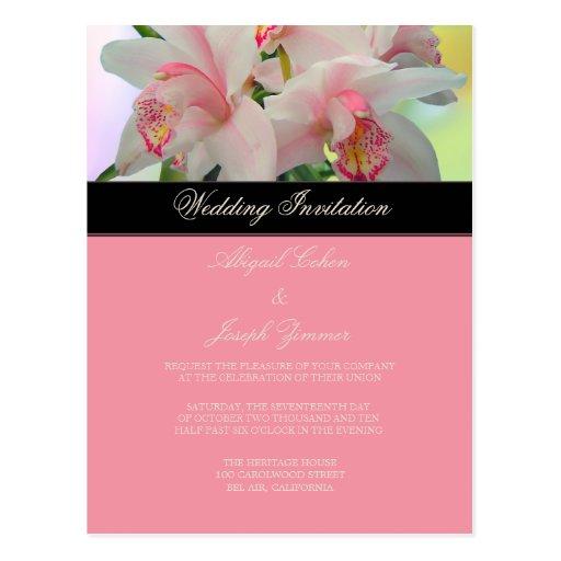 Orquídea, invitación diy del boda/reserva la fecha tarjetas postales