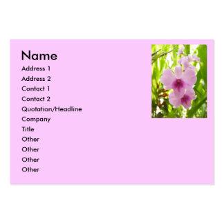 Orquídea - mundo de nuestro propio Namecard Plantilla De Tarjeta De Visita