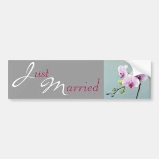Orquídea Orji apenas casado Etiqueta De Parachoque