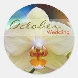 Orquídea • Pegatina del boda de octubre
