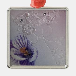 orquídea púrpura de los remolinos elegantes floral ornamento de navidad