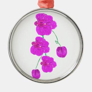 Orquídea púrpura ornamente de reyes
