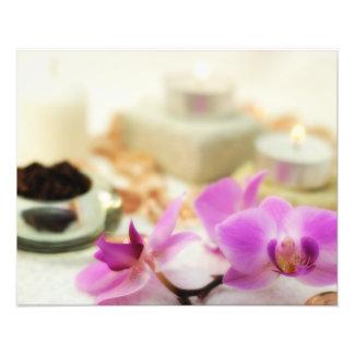 Orquídea púrpura cojinete