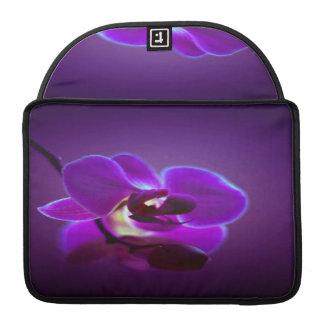 Orquídea púrpura funda para macbooks