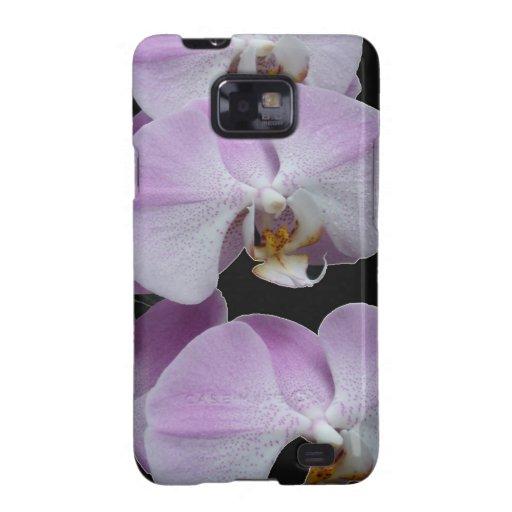 Orquídea púrpura galaxy SII funda