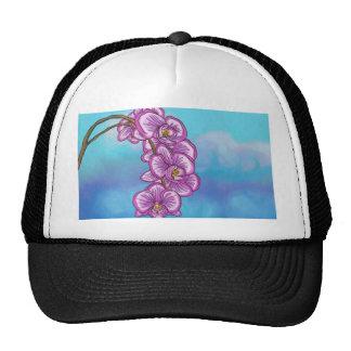 Orquídea púrpura gorras