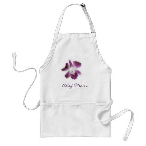 Orquídea púrpura, mamá del cocinero delantales