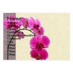 Orquídea púrpura tarjeta de visita
