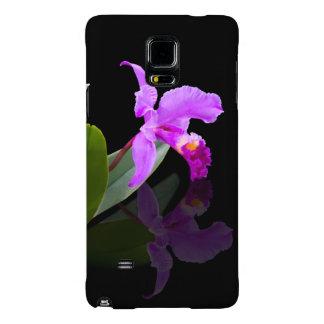 Orquídea reflejada en negro
