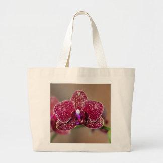 Orquídea roja hermosa bolsas