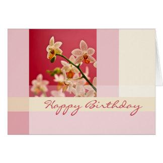 Orquídea roja • Tarjeta de cumpleaños
