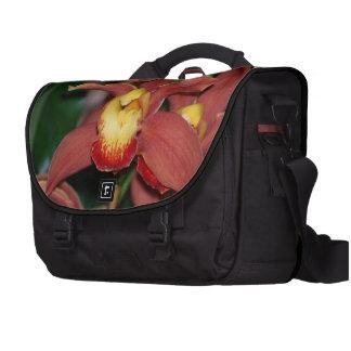 Orquídea roja y amarilla bolsas de portatil
