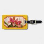 Orquídea - rosa cosquilleado etiquetas maletas