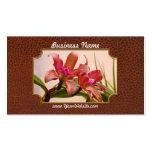 Orquídea - rosa cosquilleado tarjeta de visita