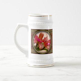 Orquídea - rosa cosquilleado taza de café