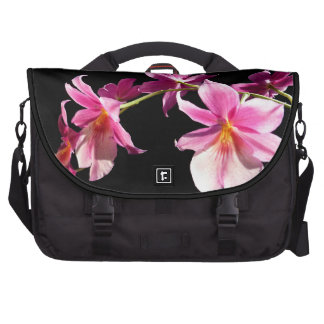 Orquídea rosada bolsas para portátil