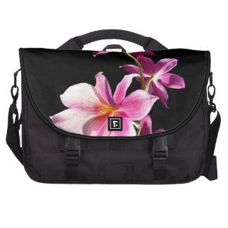 Orquídea rosada bolsa de ordenador
