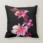 Orquídea rosada cojin