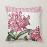 Orquídea rosada de Cattleya Cojines