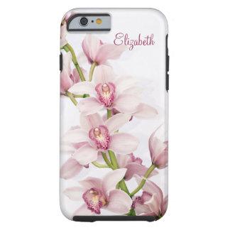 Orquídea rosada del Cymbidium floral Funda De iPhone 6 Tough