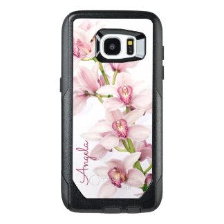 Orquídea rosada del Cymbidium floral Funda OtterBox Para Samsung Galaxy S7 Edge