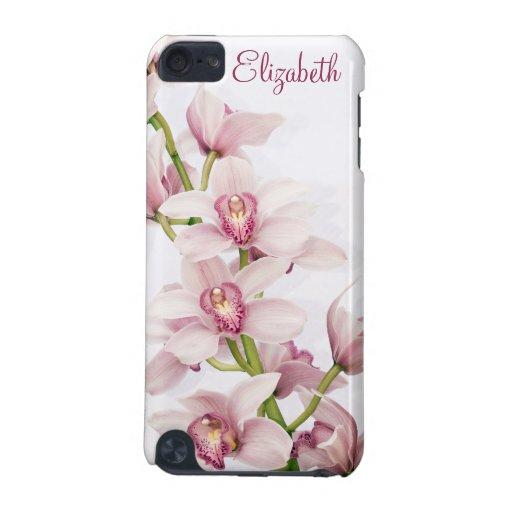 Orquídea rosada del Cymbidium floral Funda Para iPod Touch 5