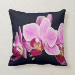Orquídea rosada fucsia cojin