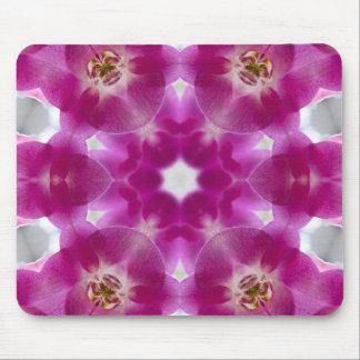 Orquídea rosada geométrica tapete de ratón
