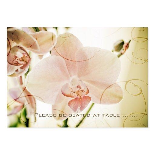 Orquídea rosada • Huésped que asienta la mini tarj Tarjeta De Visita