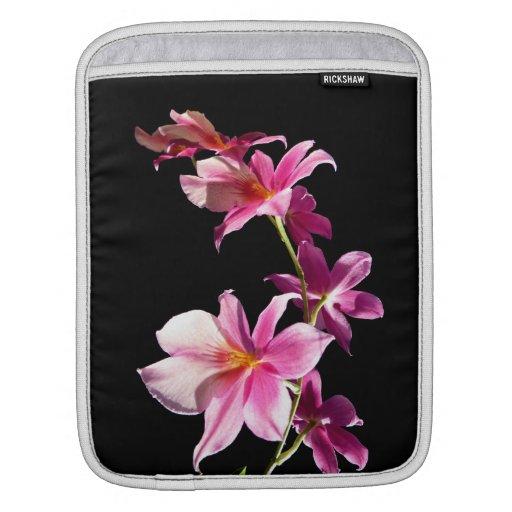 Orquídea rosada manga de iPad
