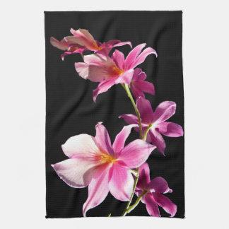 Orquídea rosada toallas de cocina