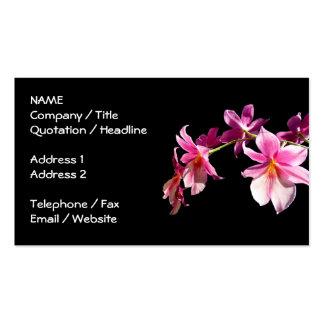 Orquídea rosada tarjetas de visita