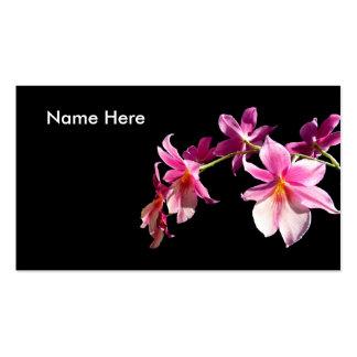 Orquídea rosada plantilla de tarjeta de visita