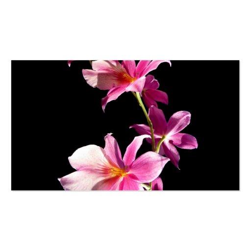 Orquídea rosada tarjetas personales