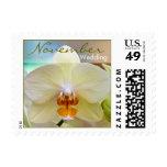 Orquídea • Sello del boda de noviembre