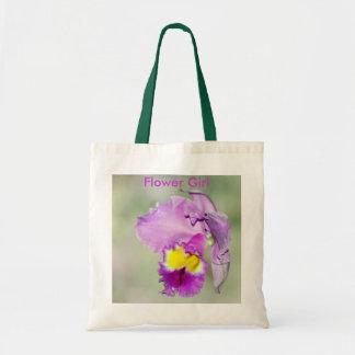 Orquídea tocada por dios para la mamá bolsas de mano