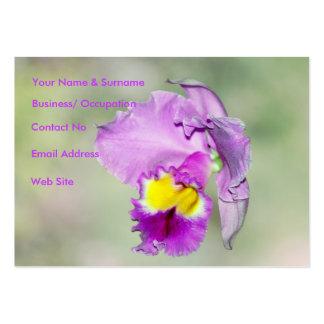 Orquídea tocada por dios para la mamá tarjetas personales