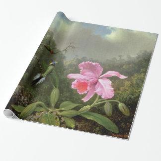 Orquídea y colibríes de Martin Johnson Heade Papel De Regalo