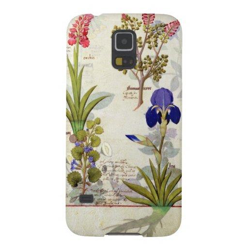 Orquídea y Fumitory o Hedera y iris del corazón sa Carcasa De Galaxy S5