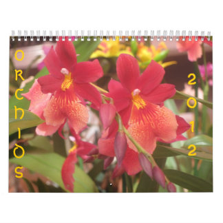 Orquídeas 2012 calendario de pared