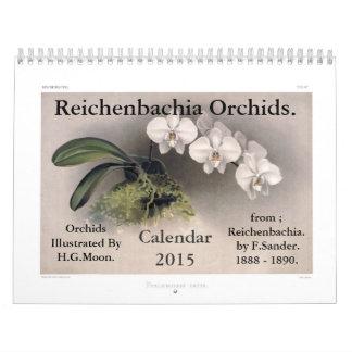 Orquídeas 2015 de Reichenbachia Calendarios De Pared